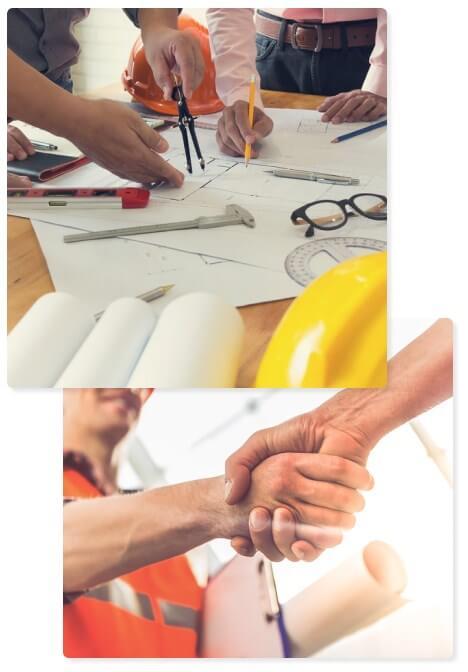 Commercial design, A&E, Construction, Maintenance